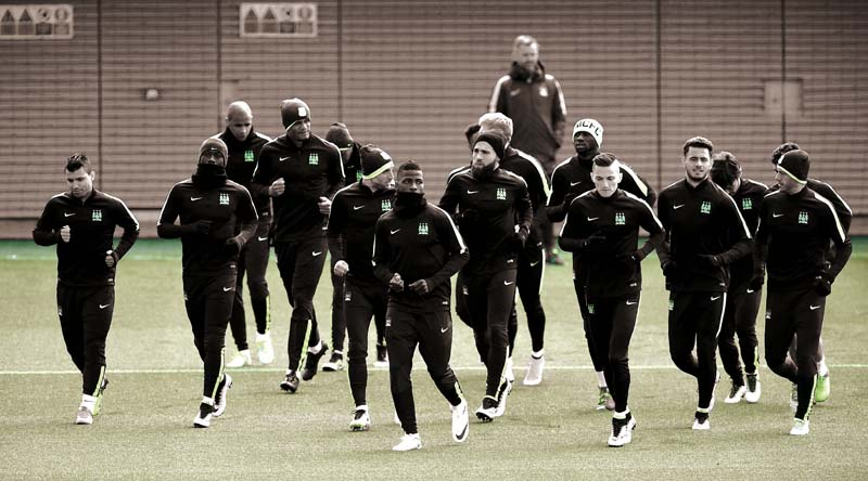 city train for their champions league semi final first leg against real madrid photo afp