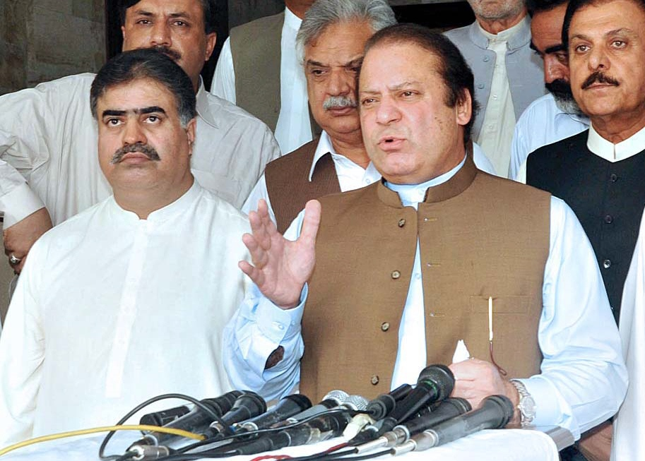 prime minister nawaz sharif r and balochistan chief minister sanaullah zehri photo app