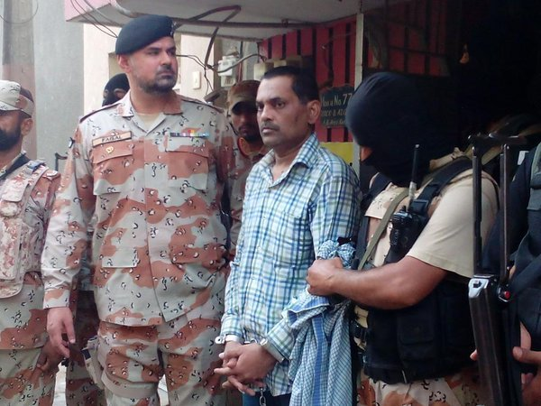 pakistan rangers sindh takes alleged target killer kashif david into custody photo twitter shahmir52 khan