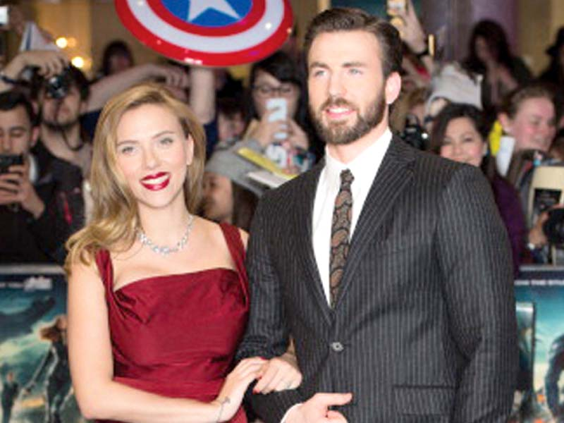 chris evans and scarlett johansson starrer to release in pakistan on may 6 photo file