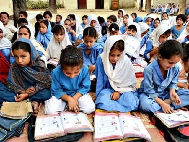 girls studying in school in kp photo afp