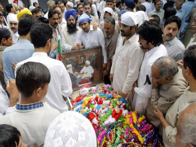 the last rites of sardar soran singh held in buner photo ppi