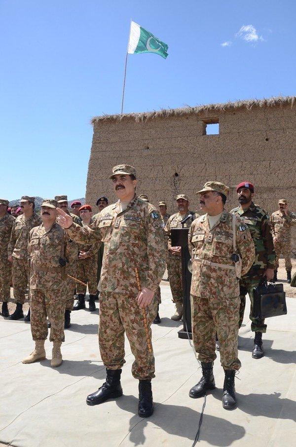 army chief general raheel sharif in shawal on april 18 2016 photo ispr