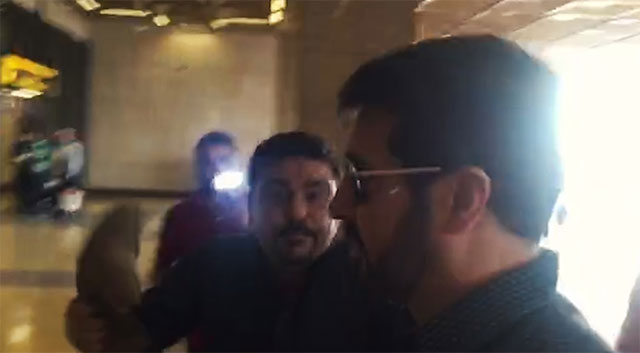 protesters chant anti india pro pakistan slogans as filmmaker departs for lahore an express news screengrab
