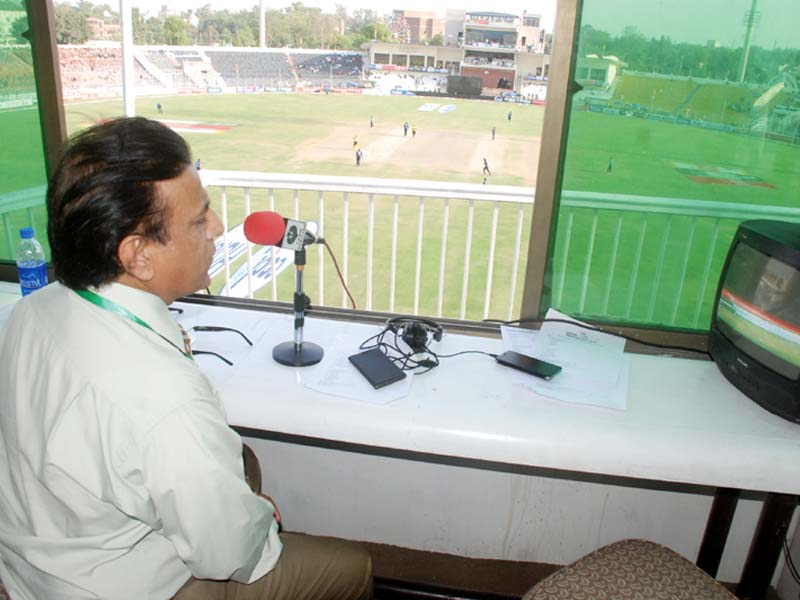 while comparing radio and television asad said that no matter how much coverage tv provides it can never kill the grace of radio photo inp