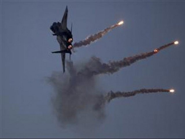 pak army jets targetted suspected terror hideouts in datta khel area of north waziristan agency photo afp