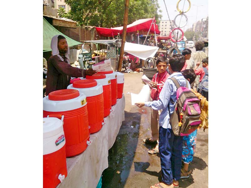the elaj trust aims to prevent any heatwave related deaths by setting up hydration points across the city so far they have set up several in district south photo press release