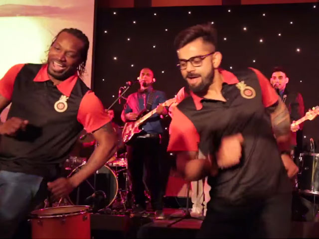 here 039 s what happens when virat kohli and chris gayle take the stage together photo screengrab
