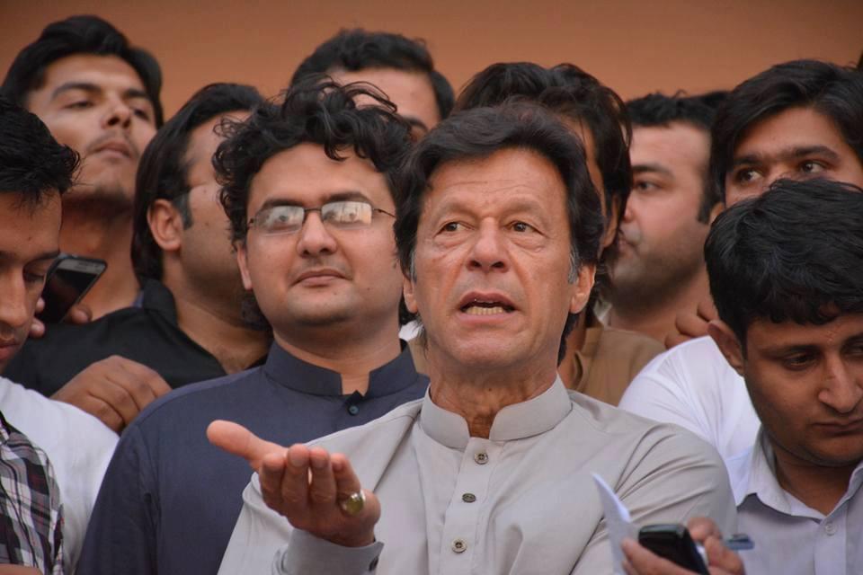 pti chief imran khan talking to media in lahore photo courtesy pakistan tehreek e insaf