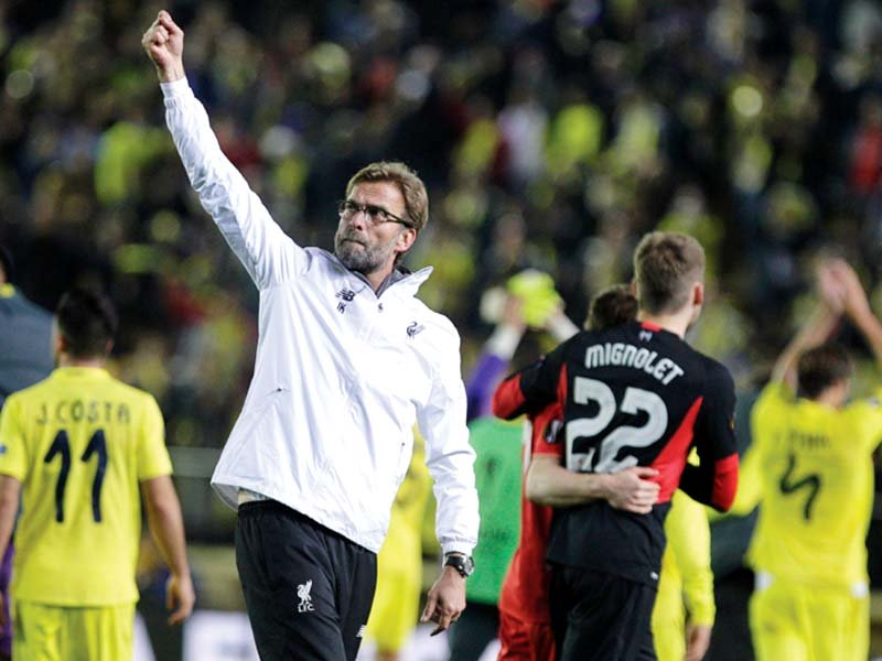 adrian s goal in the first leg makes villarreal the favourites to make the europa league final in basel however klopp s men have shown before that they do not roll over that easily photo afp