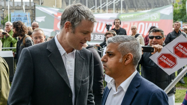 khan and goldsmith london mayoral candidates from different sides of the track