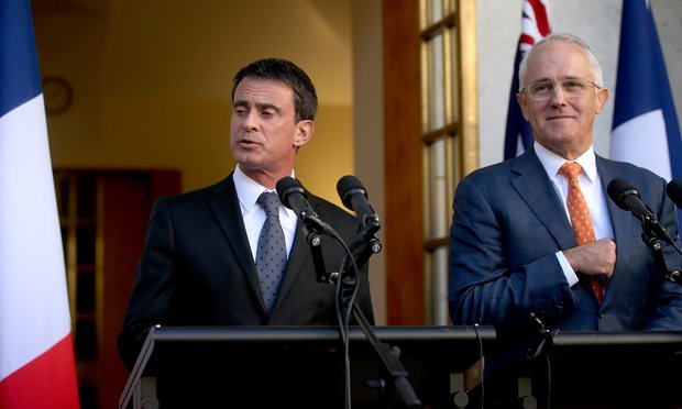 french pm vows to supervise australian sub deal himself