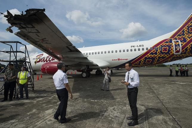 indonesian planes clip wings at airport in latest scare