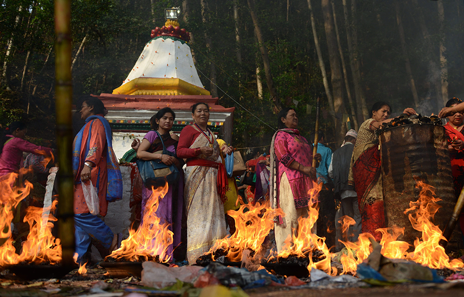 nepalese hindu devotees take part in rituals to mark the mother 039 s day festival at matathirtha on the outskirts of kathmandu on may 6 2016 photo afp