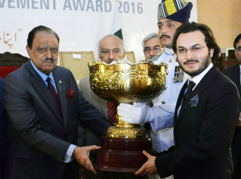 son of lahore award conferred upon hamza munir bhatti