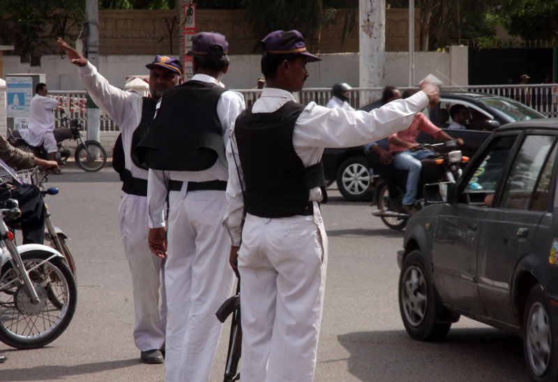 last year 79 policemen   including four senior officials and nine traffic policemen   were shod dead by unknown gunmen photo athar khan express