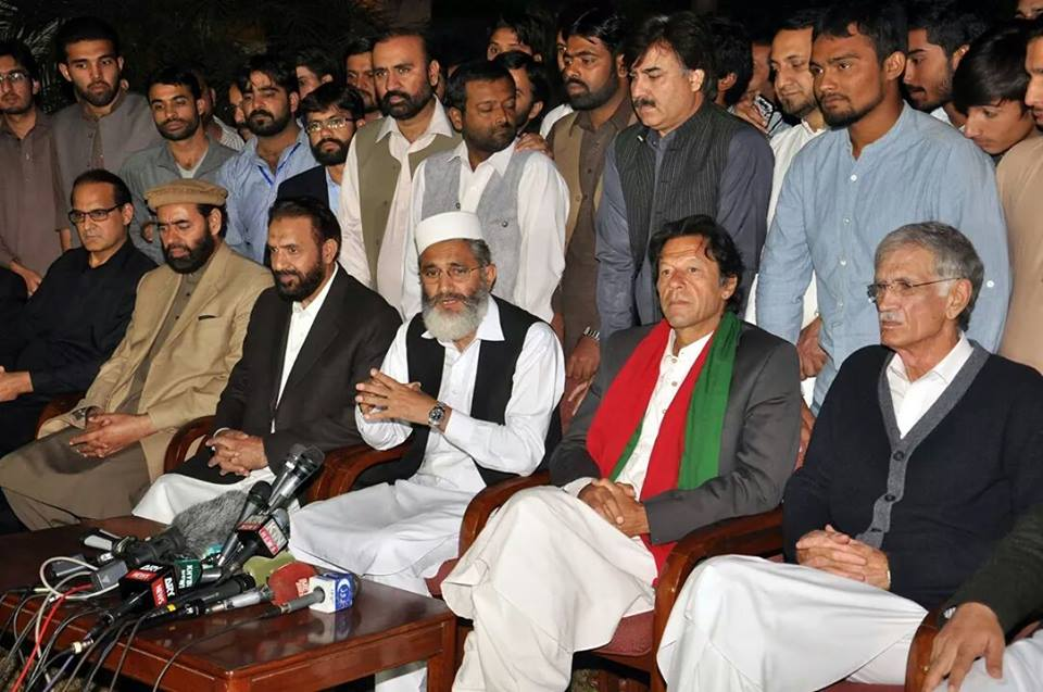 PTI members are not pleased with preferences being given to JI. PHOTO: ONLINE/FILE