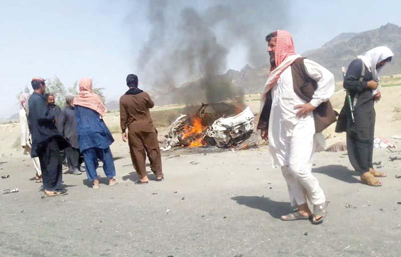 rare drone strike kabul confirms taliban chief s death in naushki