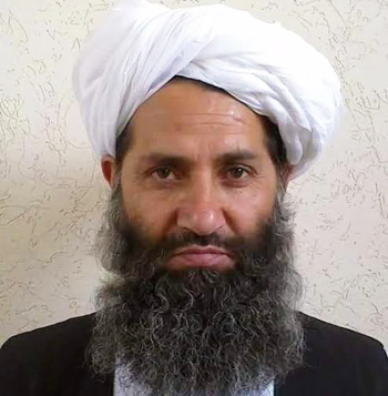 Afghan Islamic Press releases photograph of new Afghan Taliban chief Mullah Haibatullah Akhundzada