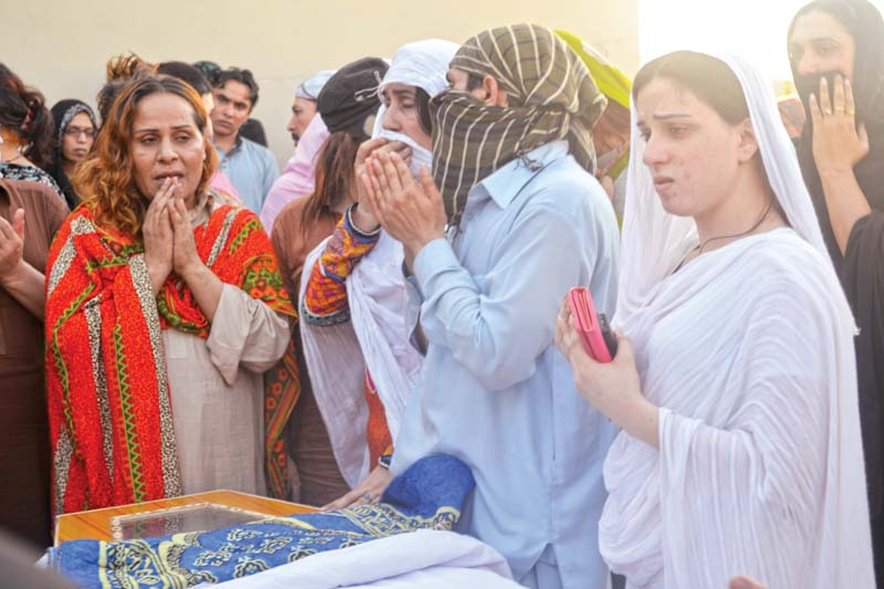 people who are transgender mourn the death of their colleague in the city photo hidayat khan express