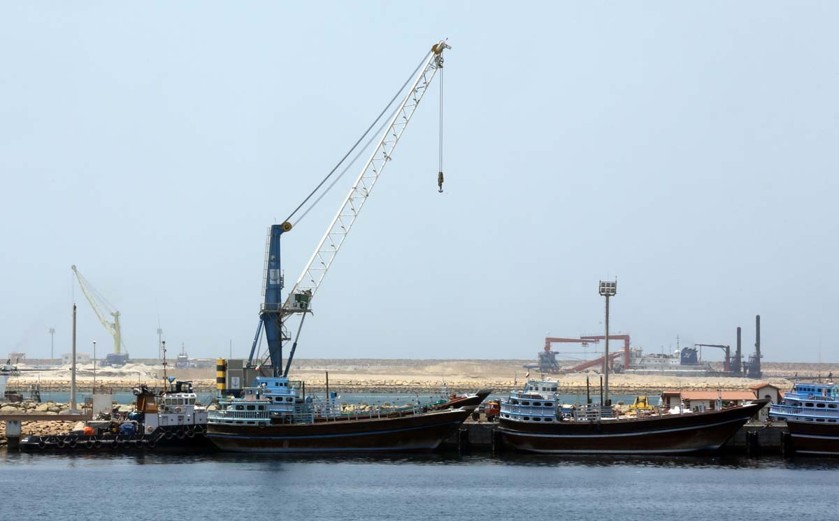a partial view of the kalantari port in city of chabahar photo afp