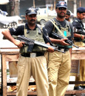 A file photo of police in Karachi. PHOTO: AFP