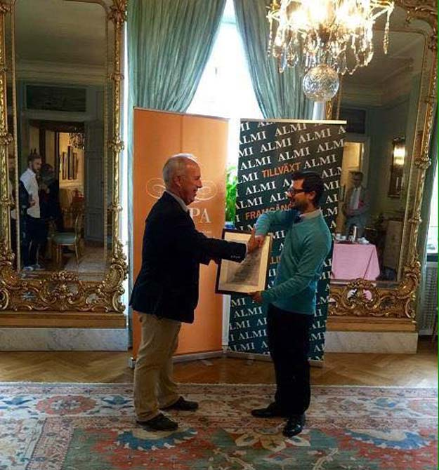 scholar wins innovation prize in sweden for doing what pakistanis do best