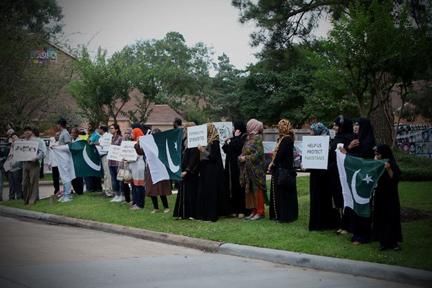 a peacefull protest outside the pakistan consulate houston tx photo facebook