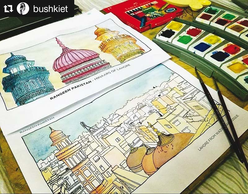 adult colouring books have become all the rage even in pakistan