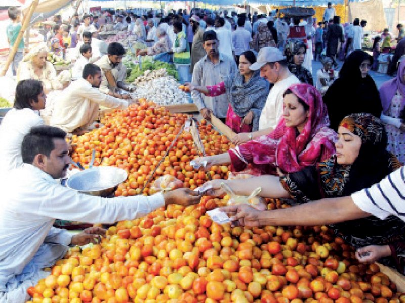ramazan bazaars had been set up to provide good quality groceries at affordable prices photo file