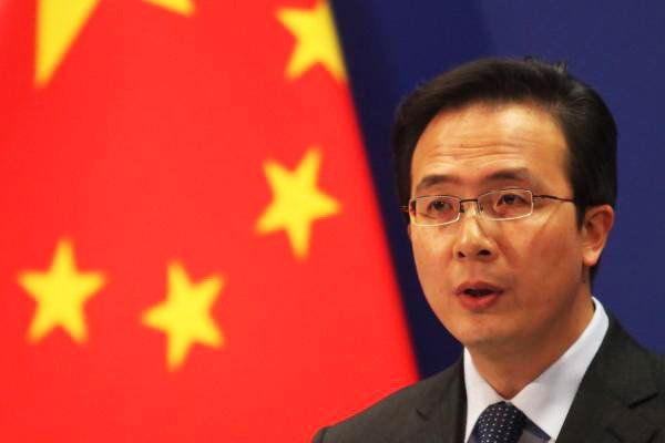 Chinese Foreign Ministry spokesperson Hong Lei. PHOTO: REUTERS