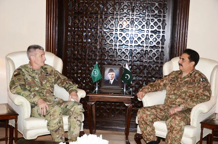 General John Nicholson with Chief of Army Staff General Raheel Sharif. PHOTO: ISPR