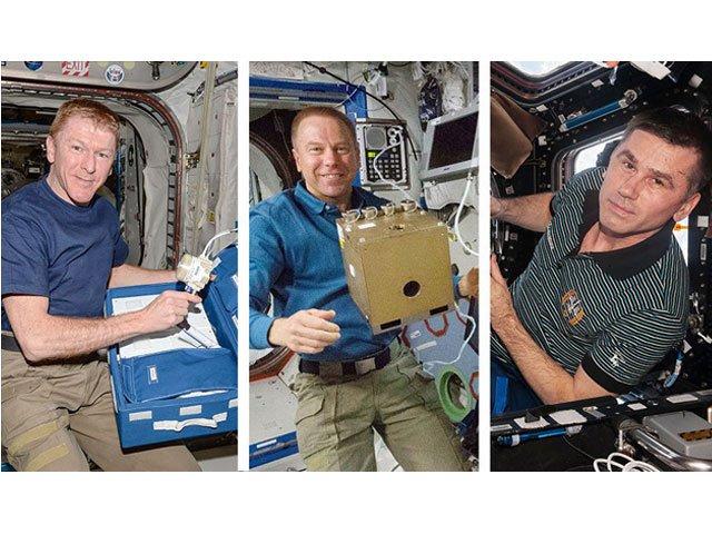 three astronauts from international space station make parachute landing
