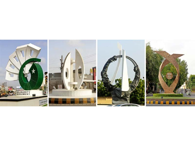 monumental change take a round of dha s roundabouts in karachi