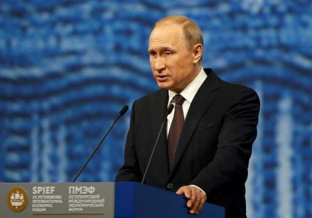 russian president vladimir putin delivers a speech during a session of the st petersburg international economic forum 2016 spief 2016 in st petersburg russia june 17 2016 photo reuters