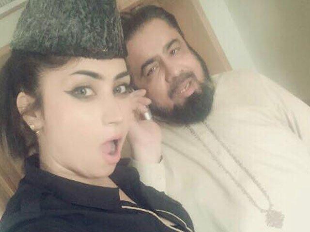qandeel baloch with mufti abdul qawi photo facebook