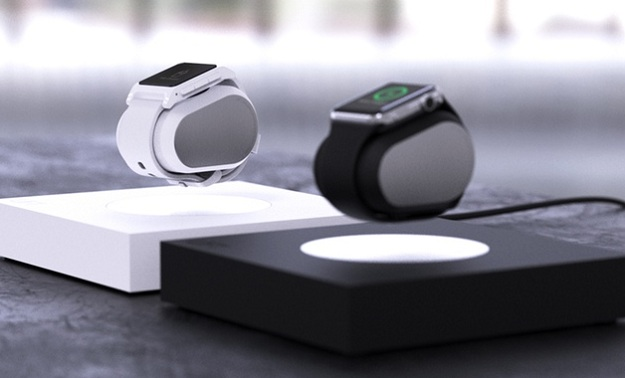 The Lift uses magnetic levitation to charge the smartwatch while it is floating in the air. PHOTO: LEVITATION WORKS
