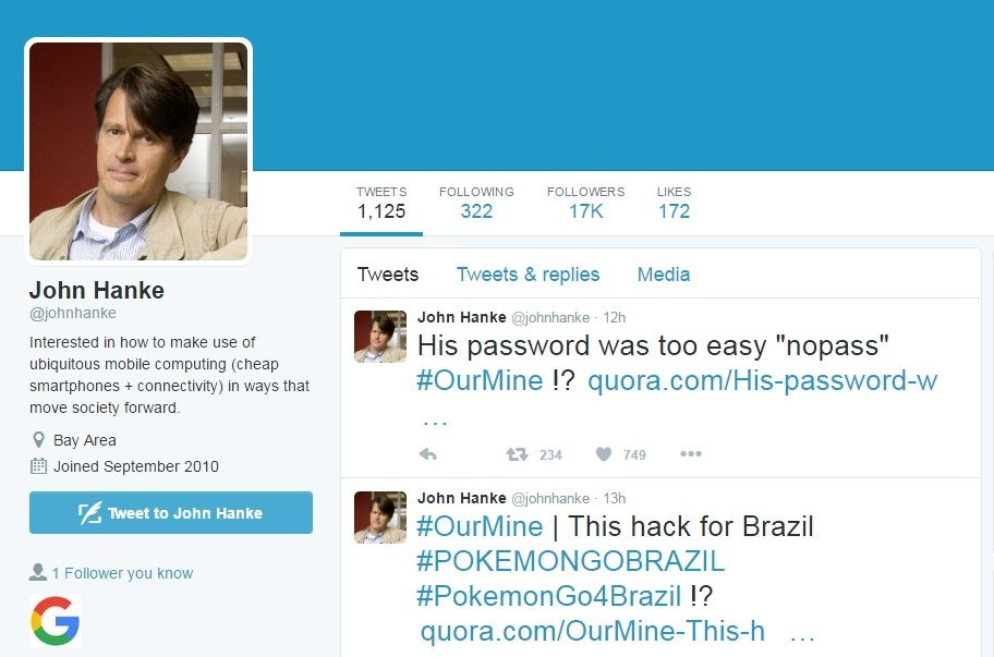 hackers posted tweets requesting pokemon go to be released in brazil photo screengrab twitter