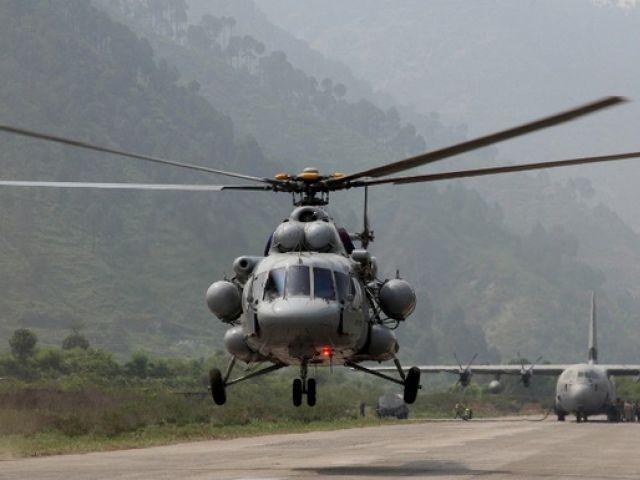 File photo of MI-17. PHOTO: AFP
