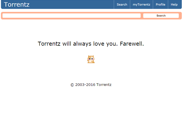 torrent search engine torrentz eu is offline and no one knows why