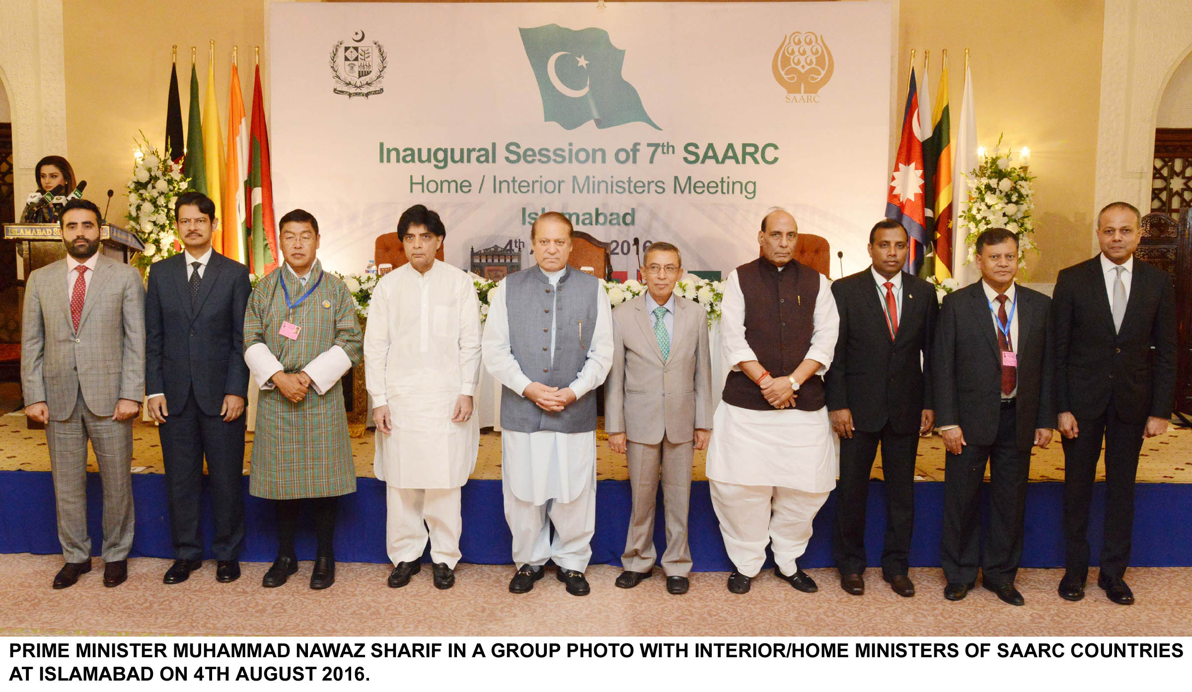 A group photo after SAARC meeting in Islamabad. PHOTO: PID