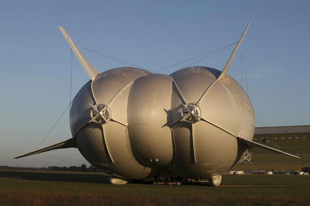 the world s longest aircraft looks like a giant flying bum
