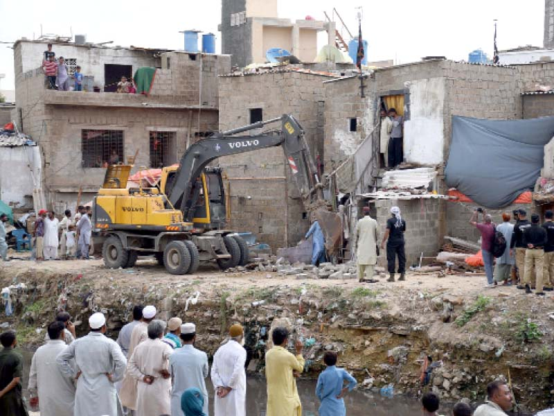shc restricts demolitions along gujjar orangi nullahs