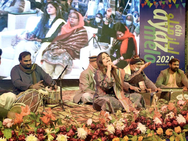 folk singer reshma parveen enthralled the audience with her songs on both nights of the sixth edition of the ayaz melo pho to app