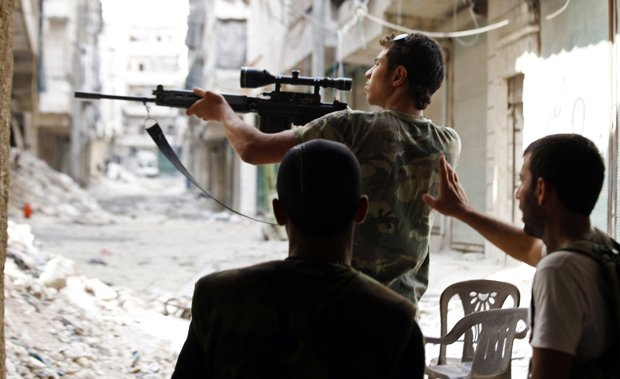 the bus was carrying fighters for syria 039 s civil war the observatory reported photo reuters file