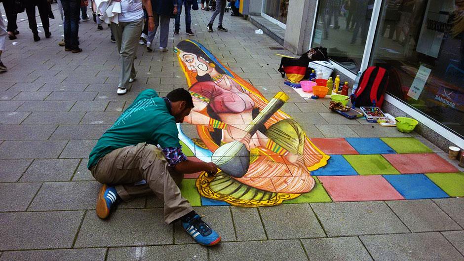 pakistani artist competes in europe s largest street art festival