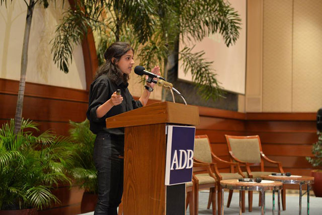 todf founder shaheera jalil albasit presents the project at the adb headquarters in philippines photo publicity