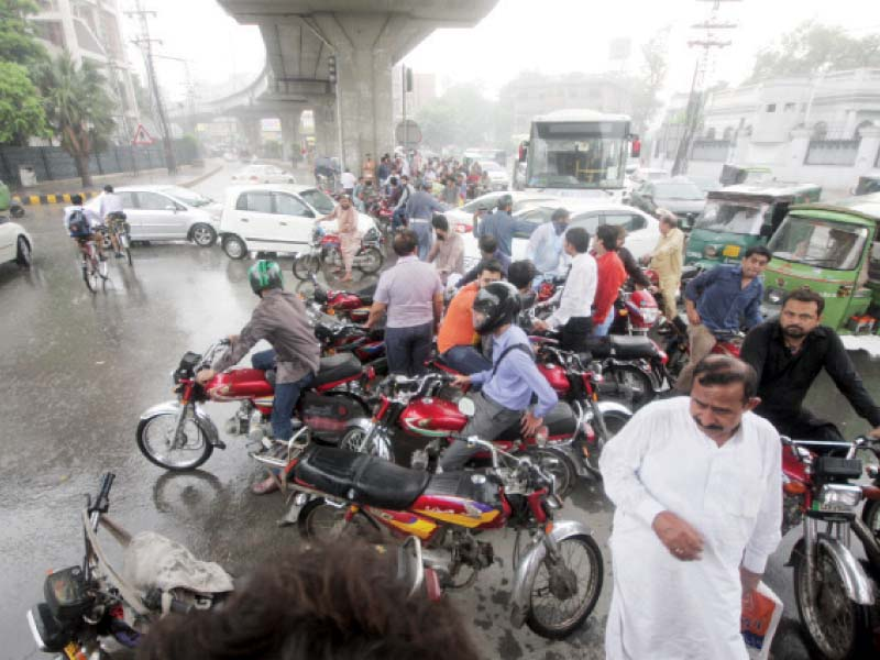 inundated rain disrupts traffic power supply