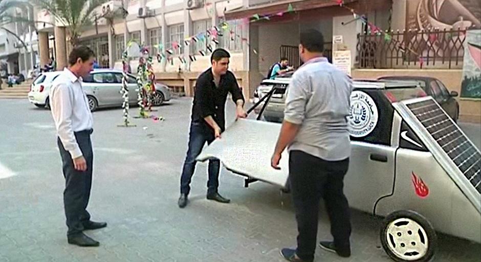 gaza students build solar power car to combat fuel shortage