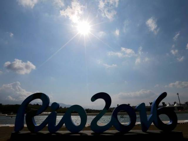 canoe athletes paddle behind olympic sign at deodoro rio de janeiro brazil on august 02 2016 photo reuters